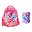 Set Ghiozdan pentru gradinita 3D + penar My Little Pony - Ponei
