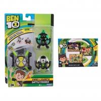 Set Ben 10 - Ceas de jucarie, Omnitrix lansator si 2 figurine de lupta - Cap de Diamant si Ghiulea + Puzzle 3 in 1 - 172 piese